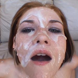 Milf facial saskia