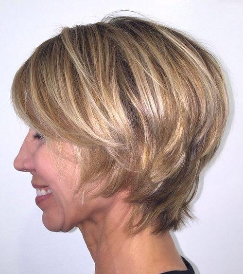 Short hair style for mature women