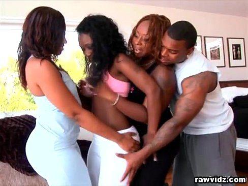 Hot C. reccomend White and ebony couple foursome Ebony