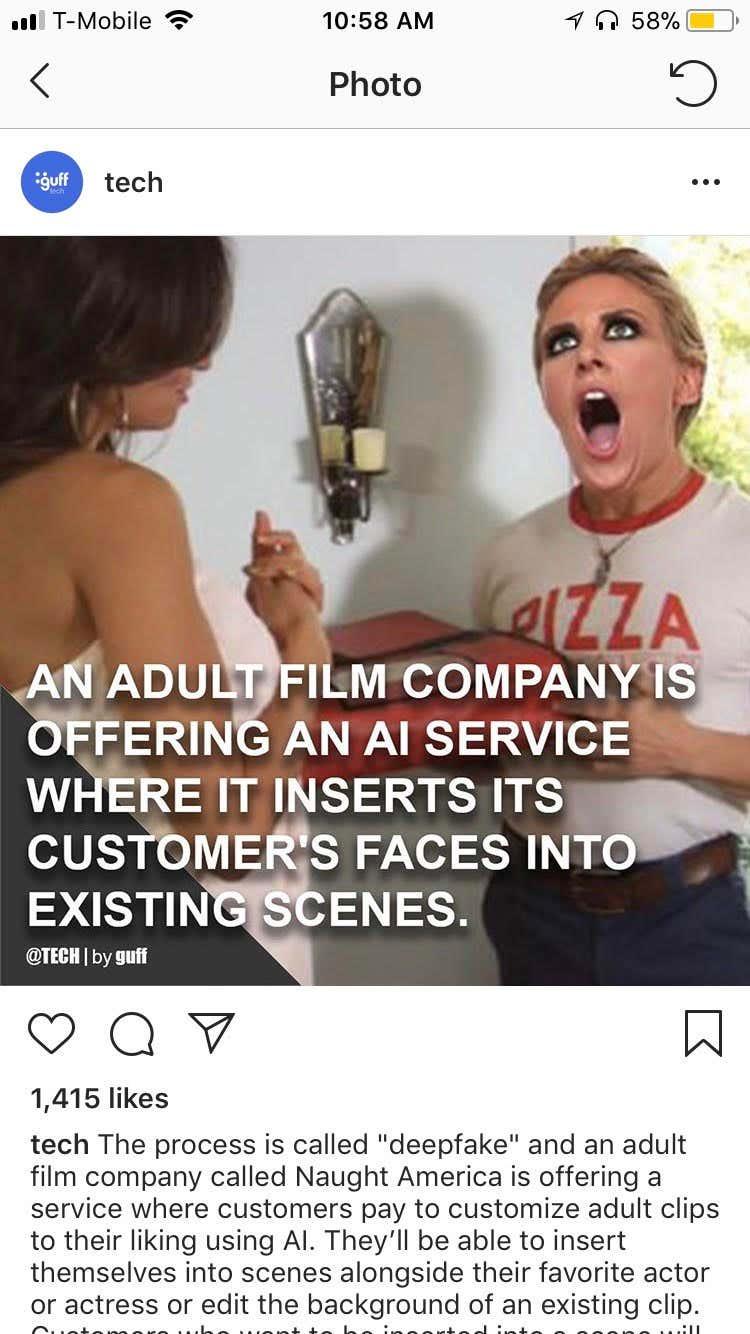 Put face in porno