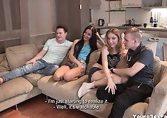 best of Bed on Babysitter watching porn masturbates