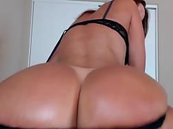 Brunette twerking handjob penis outdoor