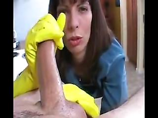Lumberjack reccomend gloves messy rubber Handjob