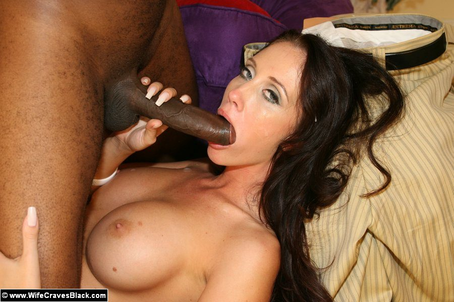 Brunette naked blowjob cock and interracial