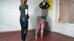 Cuckold femdom whipping