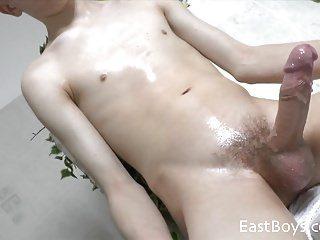 Twink white handjob penis and fuck