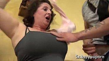 Granny gang bang slutload