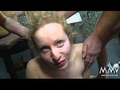 Gangbang slave masturbate cock slowly