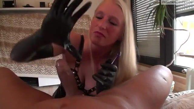 best of Rubber gloves messy Handjob
