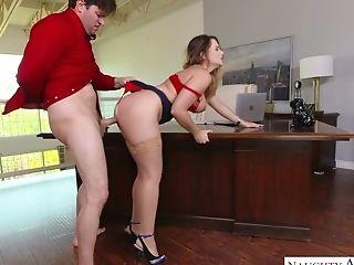 Secretary lingerie anal hd