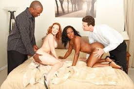 Platinum reccomend White and ebony couple foursome Ebony